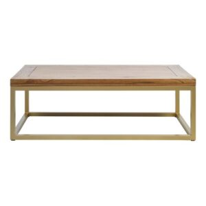 Tenterden Coffee Table Union Rustic Table Top Colour: Natural/Gold