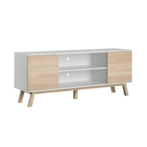 """Torpoint TV Stand for TVs up to 65"""" Fjørde & Co Colour: White Sonoma"""