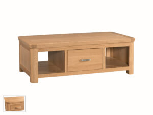 Veneto Oak Large Coffee Table with Drawers