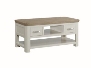 Veneto Oak Painted Standard Coffee Table with Drawers