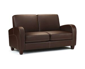 Vesta Chestnut Faux Leather 3 Seater Sofa