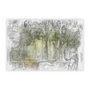 'View of The Forest in The Spring' - Unframed Painting Print on Paper Big Box Art Size: 42 cm H x 59.4 cm W