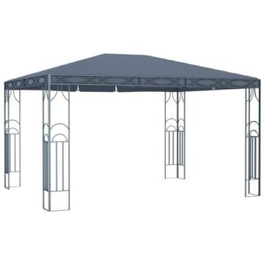 Virgo 3m x 4m Steel Patio Gazebo Sol 72 Outdoor Roof Colour: Anthracite
