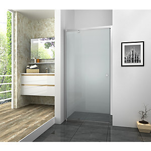 Vision 6mm Framed Chrome Pivot Shower Door Only - 760mm