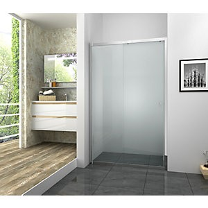 Vision 6mm Framed Chrome Sliding Door Only - 1000mm