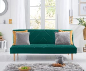 Waldorf Green Velvet Sofa Bed