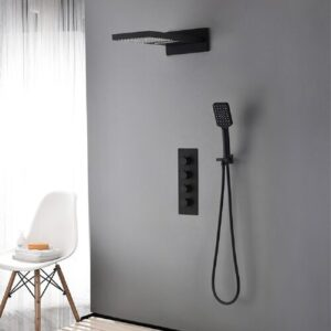 Wanneroo Thermostatic Shower with Handheld Shower Head Belfry Bathroom