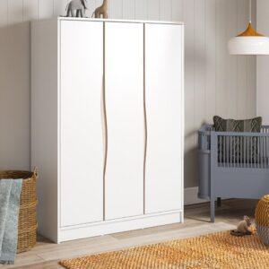 Wave 3 Door Wardrobe Geuther Colour: White/Beige