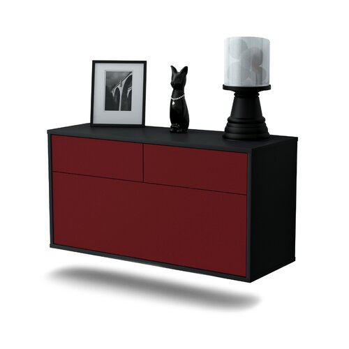 Weirfield TV Stand Ebern Designs Colour: Red