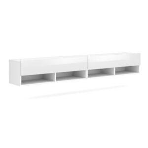 "Wescott TV Stand for TVs up to 88"" Ebern Designs Colour: White"
