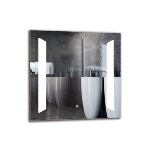 Wichita Bathroom Mirror Metro Lane Size: 60cm H x 60cm W