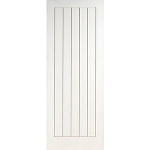 Wickes Geneva White Grained Moulded Cottage Internal Door - 1981mm x 838mm