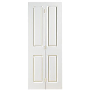 Wickes Stirling White Grained Moulded 4 Panel Internal Bi-Fold Door - 1981mm x 686mm