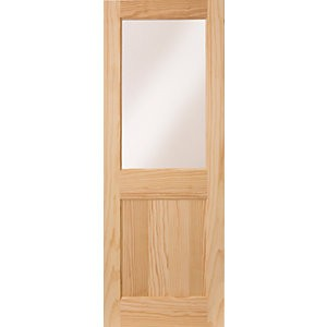 Wickes Tamar External Pine Door Glazed 1 Panel 2032 x 813mm