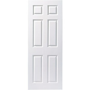 Wickes Woburn White Smooth Moulded 6 Panel Internal Door - 1981mm x 762mm