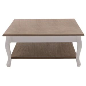 Wooden Coffee Table with Storage Brambly Cottage Base Finish: White