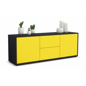 """Wroten TV Stand for TVs up to 39"""" Brayden Studio Colour: Yellow / Matte Anthracite"""