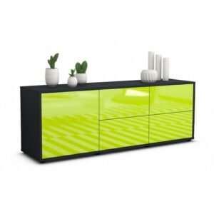 "Wulff TV Stand for TVs up to 39"" Brayden Studio Colour: High-gloss Green / Matte Anthracite"