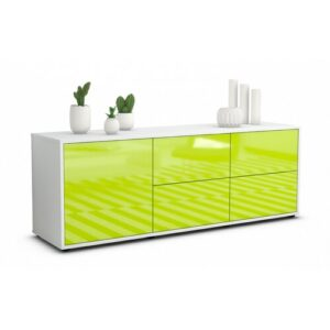 """Wulff TV Stand for TVs up to 39"""" Brayden Studio Colour: High-gloss Green / Matte White"""