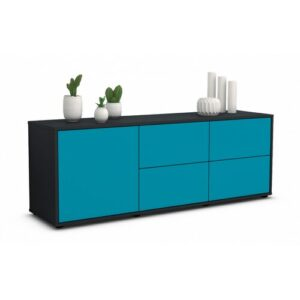 "Wulff TV Stand for TVs up to 39"" Brayden Studio Colour: Turquoise / Matte Anthracite"