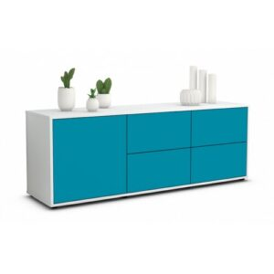 """Wulff TV Stand for TVs up to 39"""" Brayden Studio Colour: Turquoise / Matte White"""