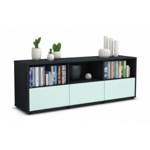 "Wunsch TV Stand for TVs up to 39"" Brayden Studio Colour: Light Blue / Matte Anthracite"