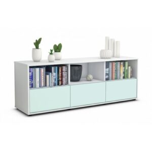 "Wunsch TV Stand for TVs up to 39"" Brayden Studio Colour: Light Blue / Matte White"