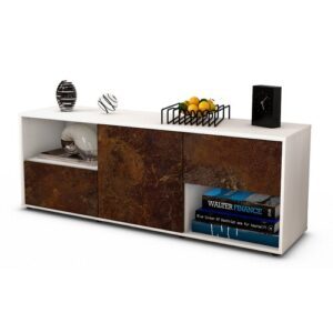 """Wurth TV Stand for TVs up to 39"""" Brayden Studio Colour: Rust / Matte White"""