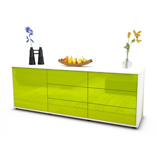 "Wyant TV Stand for TVs up to 39"" Brayden Studio Colour: High-gloss Green / Matte White"
