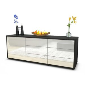 """Wyant TV Stand for TVs up to 39"""" Brayden Studio Colour: High-gloss White / Matte Anthracite"""