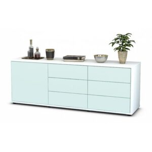 "Wyant TV Stand for TVs up to 39"" Brayden Studio Colour: Light Blue / Matte White"