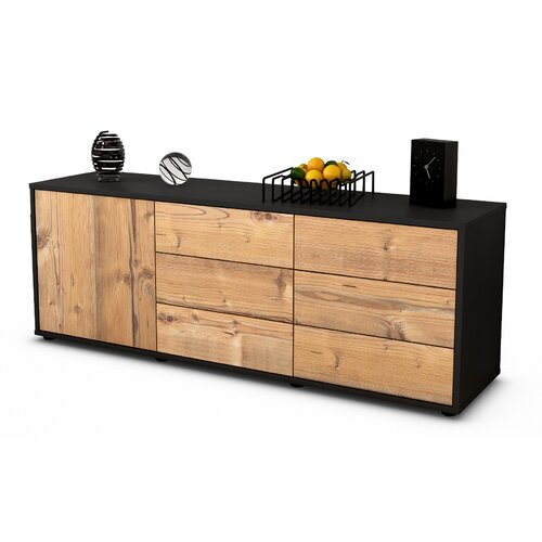 """Wyant TV Stand for TVs up to 39"""" Brayden Studio Colour: Pine / Matte Anthracite"""