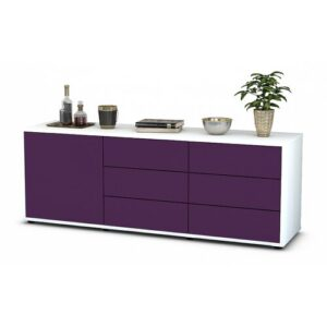 "Wyant TV Stand for TVs up to 39"" Brayden Studio Colour: Purple / Matte White"