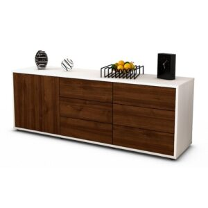 "Wyant TV Stand for TVs up to 39"" Brayden Studio Colour: Walnut / Matte White"