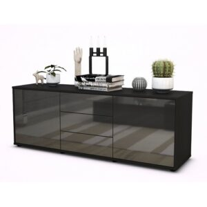 "Wyble TV Stand for TVs up to 39"" Brayden Studio Colour: High-gloss Grey / Matte Anthracite"