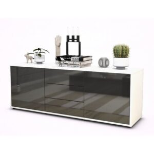 "Wyble TV Stand for TVs up to 39"" Brayden Studio Colour: High-gloss Grey / Matte White"