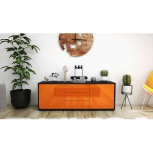 "Wyble TV Stand for TVs up to 39"" Brayden Studio Colour: High-gloss Orange / Matte Anthracite"