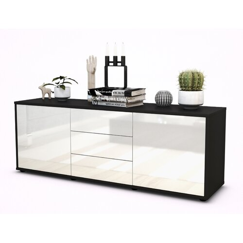 """Wyble TV Stand for TVs up to 39"""" Brayden Studio Colour: High-gloss White / Matte Anthracite"""