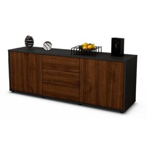 "Wyble TV Stand for TVs up to 39"" Brayden Studio Colour: Walnut / Matte Anthracite"