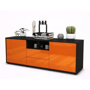 """Wyche TV Stand for TVs up to 39"""" Brayden Studio Colour: High-gloss Orange / Matte Anthracite"""