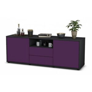 "Wyche TV Stand for TVs up to 39"" Brayden Studio Colour: Purple / Matte Anthracite"