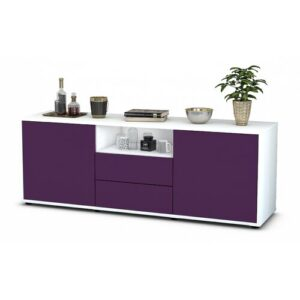 """Wyche TV Stand for TVs up to 39"""" Brayden Studio Colour: Purple / Matte White"""