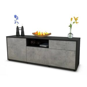 "Wyckoff TV Stand for TVs up to 39"" Brayden Studio Colour: Concrete / Matte Anthracite"