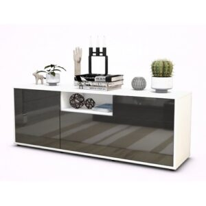 "Wyckoff TV Stand for TVs up to 39"" Brayden Studio Colour: High-gloss Grey / Matte White"