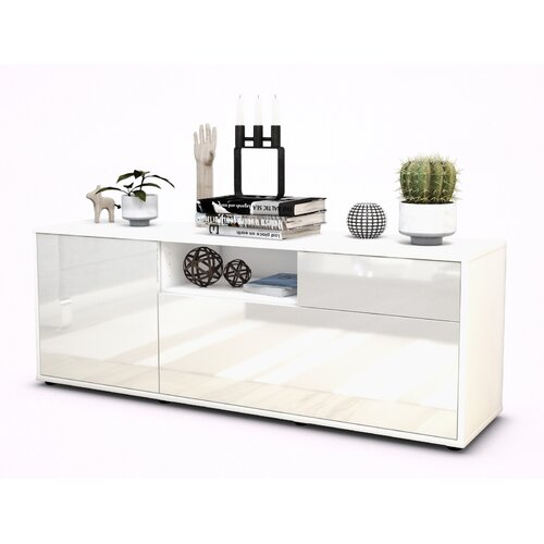"""Wyckoff TV Stand for TVs up to 39"""" Brayden Studio Colour: High-gloss White / Matte White"""