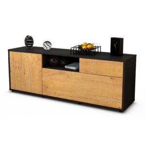 "Wyckoff TV Stand for TVs up to 39"" Brayden Studio Colour: Oak / Matte Anthracite"