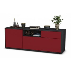 "Wyckoff TV Stand for TVs up to 39"" Brayden Studio Colour: Red / Matte Anthracite"