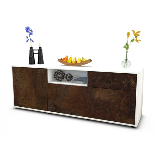 """Wyckoff TV Stand for TVs up to 39"""" Brayden Studio Colour: Rust / Matte White"""