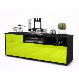 "Wycoff TV Stand for TVs up to 39"" Brayden Studio Colour: High-gloss Green / Matte Anthracite"