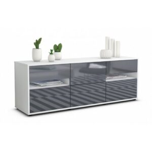 """Wydra TV Stand for TVs up to 39"""" Brayden Studio Colour: High-gloss Grey / Matte White"""